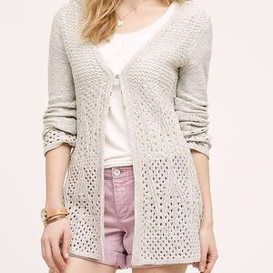 Anthropologie Bella Pointelle Cardigan